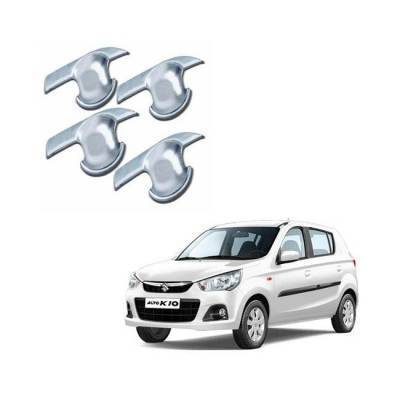 AUTO ATTIRE Premium Quality Alto K10 New Chrome Plated Finger Bowl Guard Cover