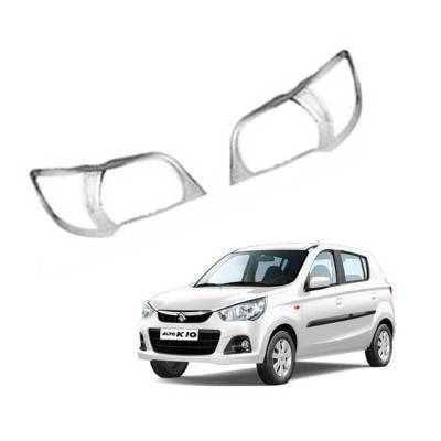 AUTO ATTIRE Premium Quality Alto K10 New Chrome Plated Head Light Cover Garnish