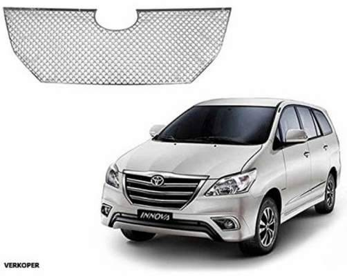 AUTO ATTIRE Premium Quality Chrome Plated Front Grill (2013- 2015) 1 Pc Upper for Innova - Front Radiator Grill