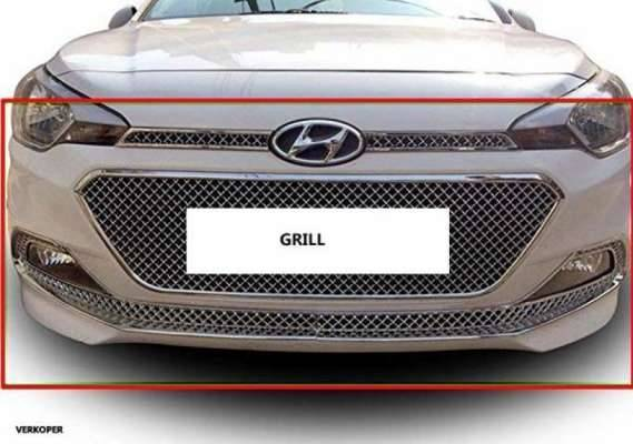 AUTO ATTIRE Premium Quality Chrome Plated Front Grill (2014- 2018) 6 Pcs for i20 ELITE - Front Radiator Grill