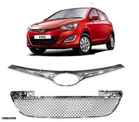 AUTO ATTIRE Premium Quality Chrome Plated Front Grill (02 Pcs) for i20 OLD - Front Radiator Grill