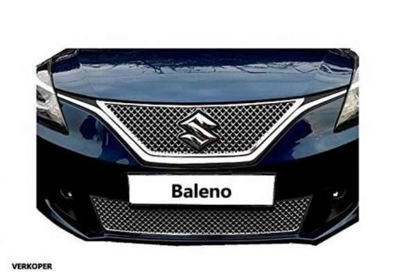 AUTO ATTIRE Premium Quality Chrome Plated Front Grill 02 Pcs (Upper + Lower) for BALENO - Front Radiator Grill