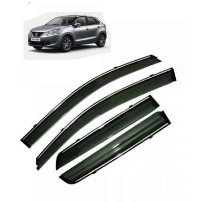 Car Door Visor Chrome liner for Baleno - rain visor - sun visor chrome liner