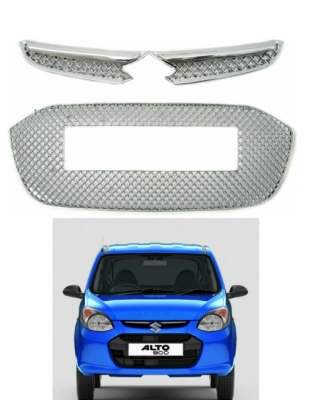 AUTO ATTIRE Premium Quality Chrome Plated Front Grill (02 Pcs) for Alto 800 - Front Radiator Grill