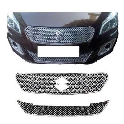 AUTO ATTIRE Premium Quality Chrome Plated Front Grill 02 Pcs (Upper+ Lower) for CIAZ - Front Radiator Grill
