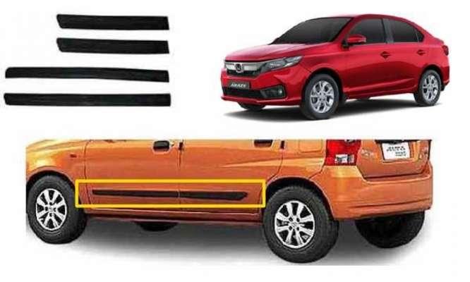Car Door Side Beading for Amaze - Side moulding - Colour: Matte Black