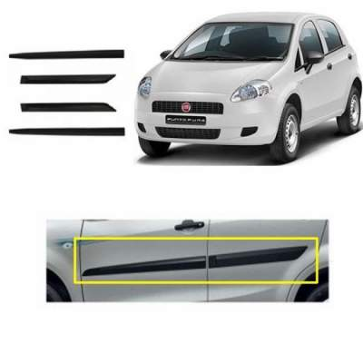 Car Door Side Beading for CHEVROLET Beat - Side moulding - Colour: Matte Blac