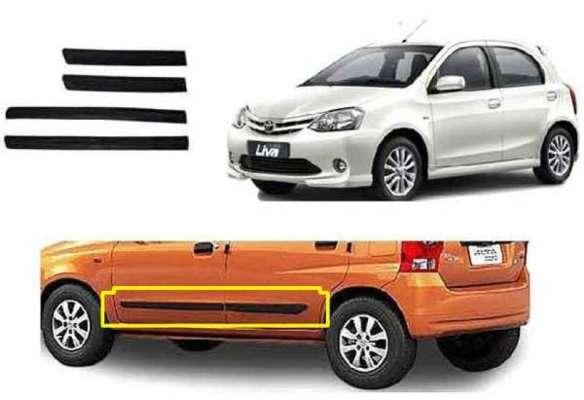 Car Door Side Beading for Etios Liva - Side moulding - Colour: Matte Black(Set of 4)