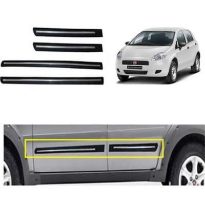 Car Door Side Beading for FIAT Linea - Side moulding - Colour: Matte Black