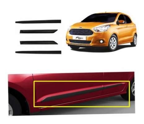 Car Door Side Beading for Figo Aspire - Side moulding - Colour: Matte Black(Set of 4)
