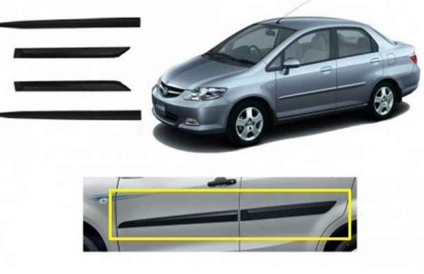 Car Door Side Beading for CITY ZX - Side moulding - Colour: Matte Black