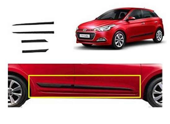 Car Door Side Beading for i20 Old - Side moulding - Colour: Matte Black S