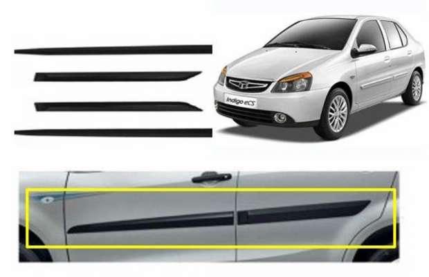 Car Door Side Beading for Indigo - Side moulding - Colour: Matte Black(Set of 4)