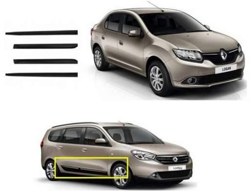 Car Door Side Beading for Logan - Side moulding - Colour: Matte Blac