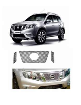 AUTO ATTIRE Premium Quality TERRANO Chrome Plated Front Grill Radiator 03 Pcs