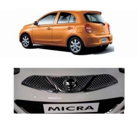 AUTO ATTIRE Premium Quality MICRA Chrome Plated Front Grill Radiator (03 Pcs)
