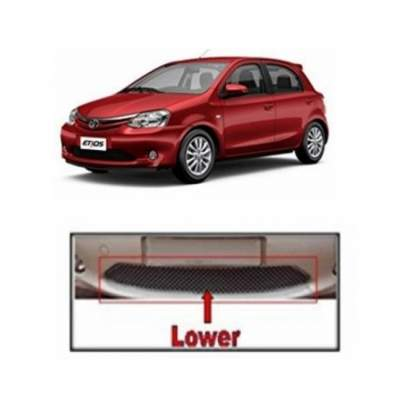 AUTO ATTIRE Premium Quality Etios Chrome Plated Front Grill Radiator (Lower Only) 2011- 2015 (01 Pc)
