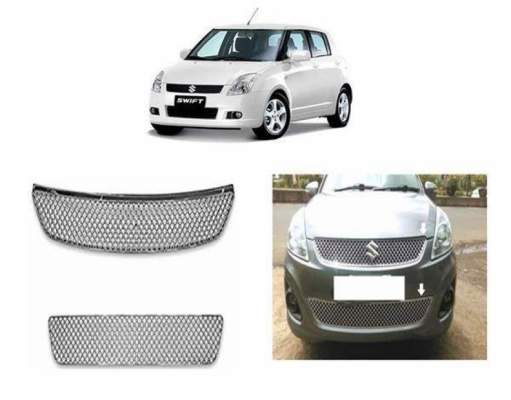 AUTO ATTIRE Premium Quality Swift 2018 Model   Chrome Plated Front Grill Radiator