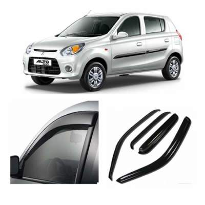 UNBREAKABLE Car Rain Visor/ Car Wind Visor/ Car Door Visor/ Side Window Deflector Maruti Alto 800 (Set of 4)