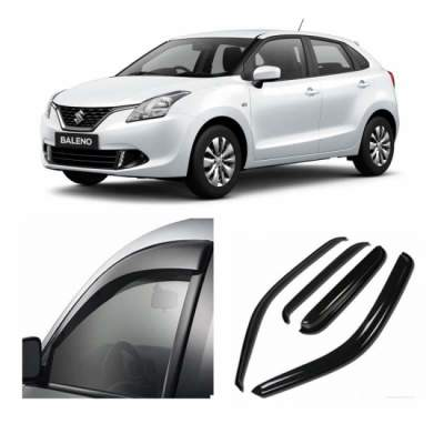 UNBREAKABLE Car Rain Visor/ Car Wind Visor/ Car Door Visor/ Side Window Deflector Maruti New Baleno (Set of 4)