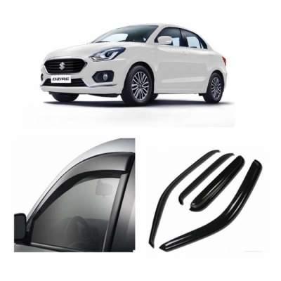 UNBREAKABLE Car Rain Visor/ Car Wind Visor/ Car Door Visor/ Side Window Deflector Maruti Swift Dzire 2017 (4 Pcs)