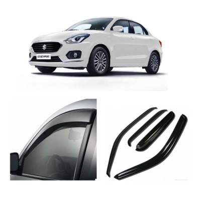 AUTO ATTIRE Premium Quality Swift Dzire 2017  Model Door Visor / Rain Visor / Wind Visor / Wind Deflector