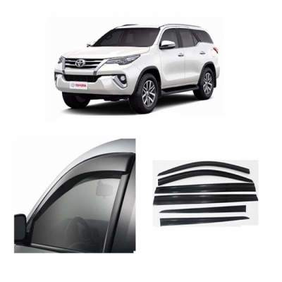 UNBREAKABLE Car Rain Visor/ Car Wind Visor/ Car Door Visor/ Window Deflector Toyota Fortuner (6 Pcs)