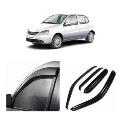 UNBREAKABLE Car Rain Visor/ Car Wind Visor/ Car Door Visor/ Side Window Deflector Tata Indica (4 Pcs)