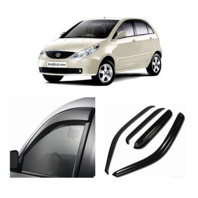 UNBREAKABLE Car Rain Visor/ Car Wind Visor/ Car Door Visor/ Window Deflector Tata Indica Vista (4 Pcs)