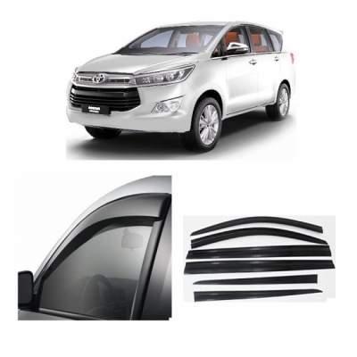 UNBREAKABLE Car Rain Visor/ Car Wind Visor/ Car Door Visor/ Window Deflector Toyota Innova Crysta (6 Pcs)