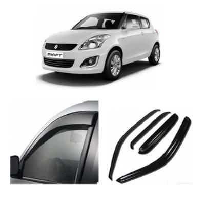 UNBREAKABLE Car Rain Visor/ Car Wind Visor/ Car Door Visor/ Side Window Deflector Maruti Old Swift (4 Pcs)