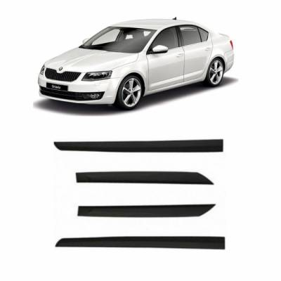 Car Door Side Beading for SKODA Fabia - Side moulding - Colour: Matte Black(S