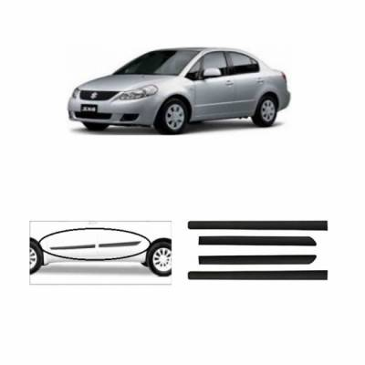 Car Door Side Beading for SX4 -Side moulding - Colour: Matte Black Se