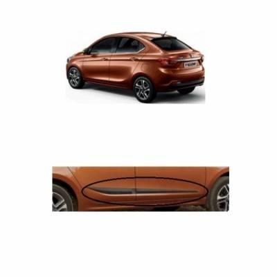 Car Door Side Beading for Tigor - Side moulding - Colour: Matte Black(Se