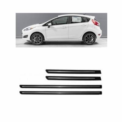 Car Door Side Beading for Fiesta - Side moulding - Matte Black(Set of 4)