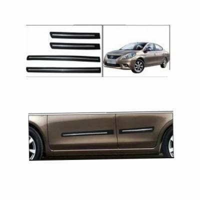 Car Door Side Beading for NISSAN Sunny - Side moulding - Colour: Matte Black