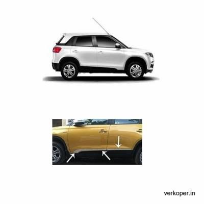 Car Door Side Beading for Breeza - Side moulding - Matte Black Set of 4