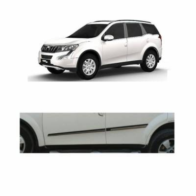 Car Door Side Beading for XUV 500 - Side moulding - Colour: Matte Bl
