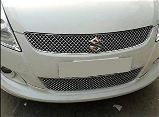 AUTO ATTIRE Premium Quality Chrome Plated Front Grill (02 Pcs) for Swift Old - Front Radiator Grill