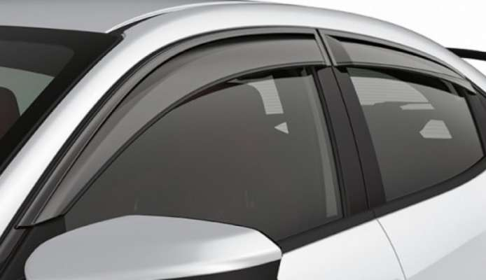 Car Door Visor for Maruti Suzuki Baleno / Car Rain Visor/ Car Wind Visor/ Car Door Visor/ Side Window Deflector (Set of 4)