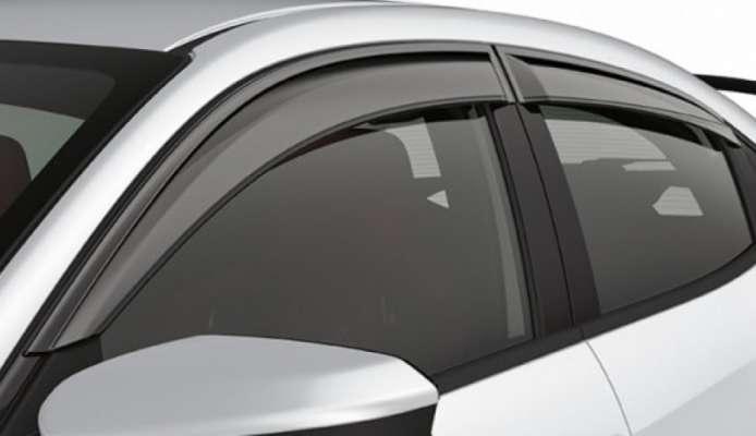 Door Visor for Honda Amaze / Car Rain Visor/ Car Wind Visor/ Window Deflector (4 Pcs)