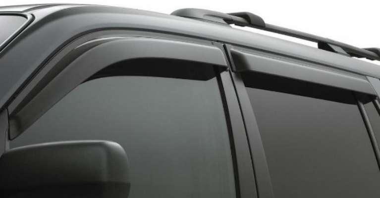 Car Door Visor for Mahindra TUV 300 / Car Rain Visor/ Car Wind Visor/ Window Deflector (6 Pcs)