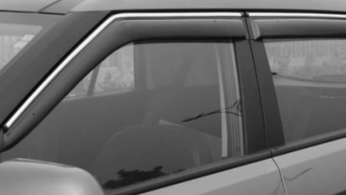 Chrome Line Door Visor for Mahindra TUV 300 / Wind visor/ Rain Visor/ Wind Deflector/ Rain Guard (6Pc)