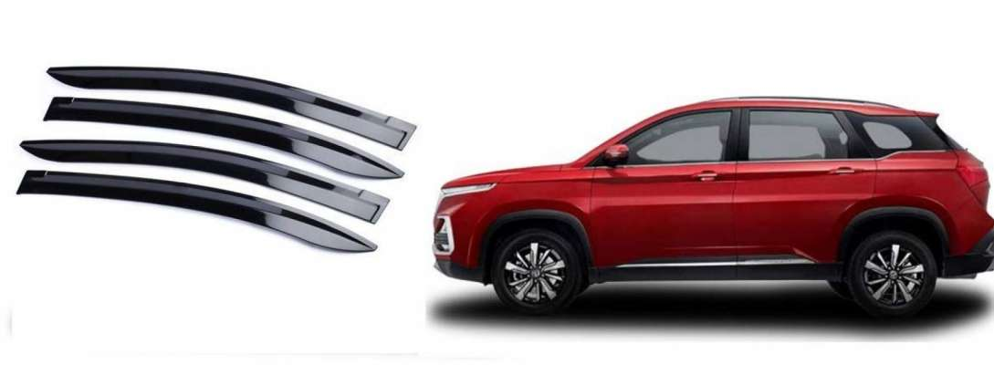 Door Visor for MG Hector / Wind Visor/ Rain Visor/ Sun Visor (4 Pc)