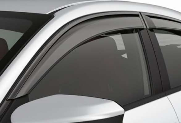 Door Visor for Hyundai i20 Elite / Car Rain Visor/ Car Wind Visor/ Side Window Deflector (4 Pcs)