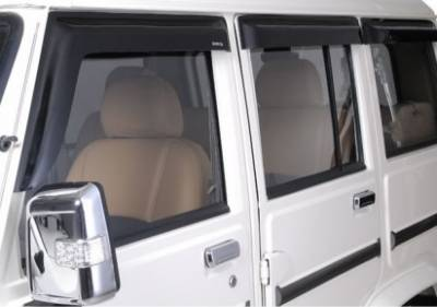 Car Door Visor for Mahindra Bolero XL / Car Rain Visor/ Car Wind Visor/ Window Deflector (6 Pcs)