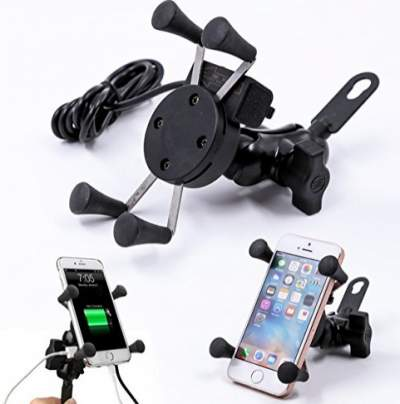 X- Grip Bike Phone Charger / Bike Mobile Stand / Bike Mobile Holder