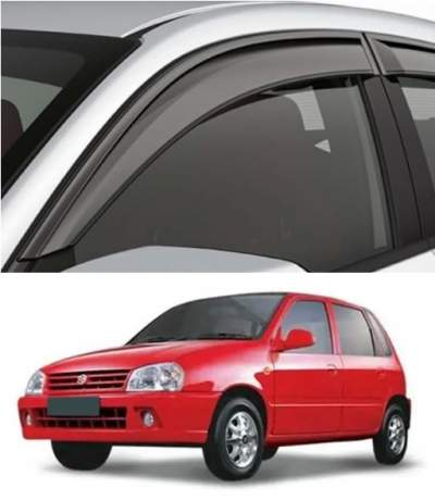 Car Door Visor for Maruti Zen Old / Car Rain Visor/ Car Wind Visor (Model 1990-2007) (4 Pcs)