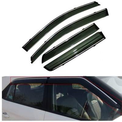 Chrome Line Door Visor for New Jazz / Wind visor/ Rain Visor/ Wind Deflector/ Rain Guard for New Jazz