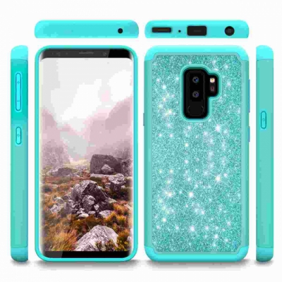 Samsung Galaxy S9 Plus Glitter Shockproof Bumper Case Cover